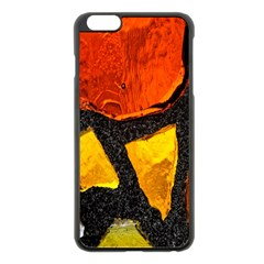Colorful Glass Mosaic Art And Abstract Wall Background Apple Iphone 6 Plus/6s Plus Black Enamel Case by Amaryn4rt