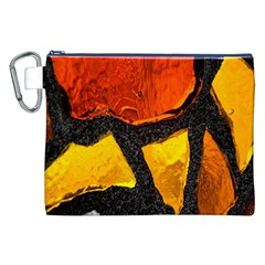 Colorful Glass Mosaic Art And Abstract Wall Background Canvas Cosmetic Bag (xxl) by Amaryn4rt
