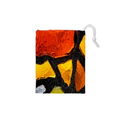 Colorful Glass Mosaic Art And Abstract Wall Background Drawstring Pouches (xs)  by Amaryn4rt
