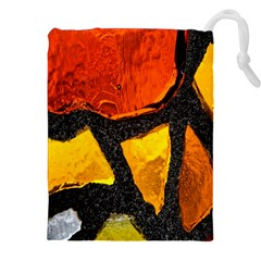 Colorful Glass Mosaic Art And Abstract Wall Background Drawstring Pouches (xxl) by Amaryn4rt