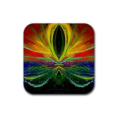 Future Abstract Desktop Wallpaper Rubber Square Coaster (4 Pack)  by Amaryn4rt