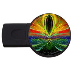 Future Abstract Desktop Wallpaper Usb Flash Drive Round (4 Gb) by Amaryn4rt