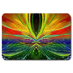 Future Abstract Desktop Wallpaper Large Doormat  by Amaryn4rt