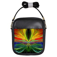 Future Abstract Desktop Wallpaper Girls Sling Bags by Amaryn4rt
