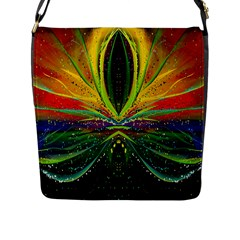 Future Abstract Desktop Wallpaper Flap Messenger Bag (l)  by Amaryn4rt