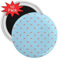 Spaceship Cartoon Pattern Drawing 3  Magnets (10 Pack)  by dflcprints