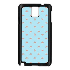 Spaceship Cartoon Pattern Drawing Samsung Galaxy Note 3 N9005 Case (black) by dflcprints