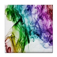 Colour Smoke Rainbow Color Design Tile Coasters