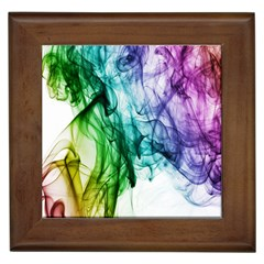 Colour Smoke Rainbow Color Design Framed Tiles
