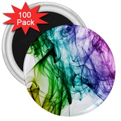 Colour Smoke Rainbow Color Design 3  Magnets (100 pack)