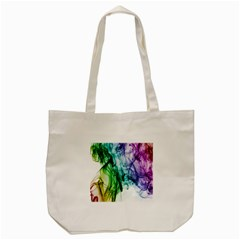 Colour Smoke Rainbow Color Design Tote Bag (cream) by Amaryn4rt