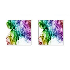 Colour Smoke Rainbow Color Design Cufflinks (square) by Amaryn4rt