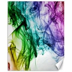 Colour Smoke Rainbow Color Design Canvas 11  x 14