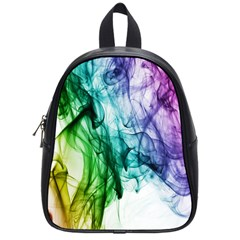 Colour Smoke Rainbow Color Design School Bags (small)  by Amaryn4rt