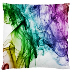 Colour Smoke Rainbow Color Design Large Cushion Case (two Sides) by Amaryn4rt