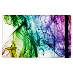 Colour Smoke Rainbow Color Design Apple Ipad 2 Flip Case by Amaryn4rt