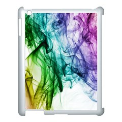 Colour Smoke Rainbow Color Design Apple Ipad 3/4 Case (white) by Amaryn4rt