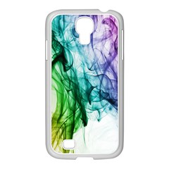 Colour Smoke Rainbow Color Design Samsung Galaxy S4 I9500/ I9505 Case (white) by Amaryn4rt