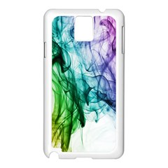 Colour Smoke Rainbow Color Design Samsung Galaxy Note 3 N9005 Case (white) by Amaryn4rt