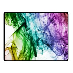 Colour Smoke Rainbow Color Design Double Sided Fleece Blanket (small)  by Amaryn4rt