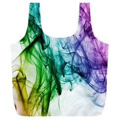 Colour Smoke Rainbow Color Design Full Print Recycle Bags (L)