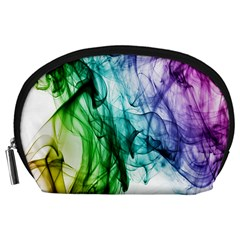 Colour Smoke Rainbow Color Design Accessory Pouches (large)  by Amaryn4rt