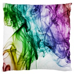 Colour Smoke Rainbow Color Design Large Flano Cushion Case (two Sides) by Amaryn4rt