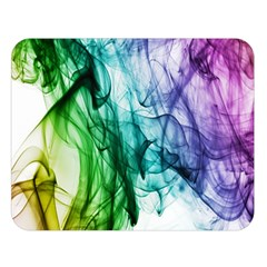 Colour Smoke Rainbow Color Design Double Sided Flano Blanket (Large)