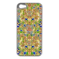 Lizard And A Skull Apple Iphone 5 Case (silver) by pepitasart