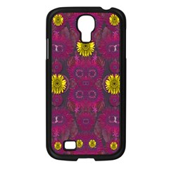 Colors And Wonderful Sun  Flowers Samsung Galaxy S4 I9500/ I9505 Case (black) by pepitasart