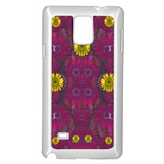 Colors And Wonderful Sun  Flowers Samsung Galaxy Note 4 Case (white) by pepitasart