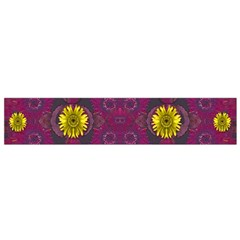 Colors And Wonderful Sun  Flowers Flano Scarf (small) by pepitasart