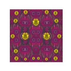 Colors And Wonderful Sun  Flowers Small Satin Scarf (square) by pepitasart