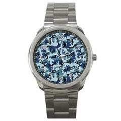 Navy Camouflage Sport Metal Watch by sifis