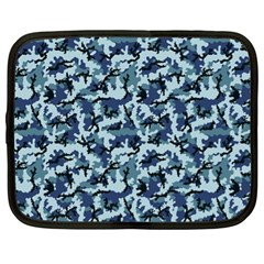 Navy Camouflage Netbook Case (xl)  by sifis