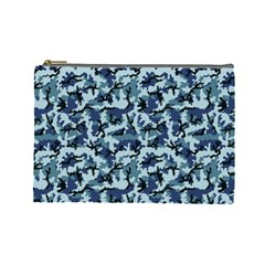 Navy Camouflage Cosmetic Bag (large)  by sifis