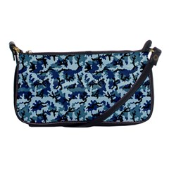 Navy Camouflage Shoulder Clutch Bags by sifis