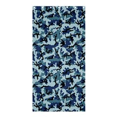 Navy Camouflage Shower Curtain 36  X 72  (stall)  by sifis