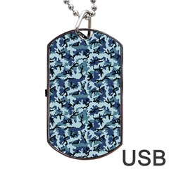 Navy Camouflage Dog Tag Usb Flash (two Sides) by sifis