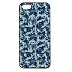 Navy Camouflage Apple Iphone 5 Seamless Case (black) by sifis