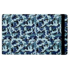 Navy Camouflage Apple Ipad 3/4 Flip Case by sifis