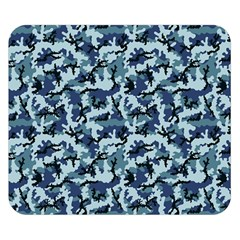 Navy Camouflage Double Sided Flano Blanket (small)  by sifis