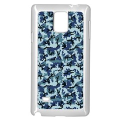 Navy Camouflage Samsung Galaxy Note 4 Case (white) by sifis