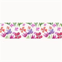 Watercolor Flowers And Butterflies Pattern Large Bar Mats by TastefulDesigns