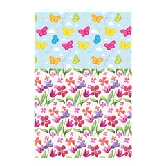 Watercolor Flowers And Butterflies Pattern Shower Curtain 48  X 72  (small)  by TastefulDesigns