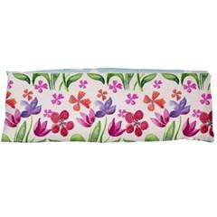 Watercolor Flowers And Butterflies Pattern Body Pillow Case Dakimakura (two Sides) by TastefulDesigns