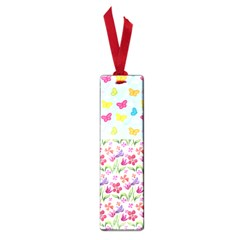 Watercolor Flowers And Butterflies Pattern Small Book Marks by TastefulDesigns