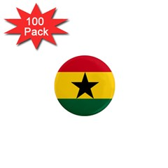 Flag Of Ghana 1  Mini Magnets (100 Pack)