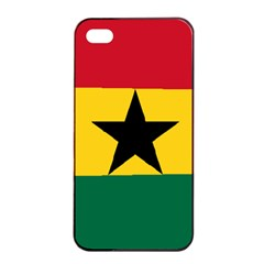Flag Of Ghana Apple Iphone 4/4s Seamless Case (black) by abbeyz71