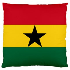 Flag Of Ghana Standard Flano Cushion Case (one Side) by abbeyz71